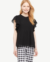 Ann Taylor Tall Pleated Shoulder Blouse