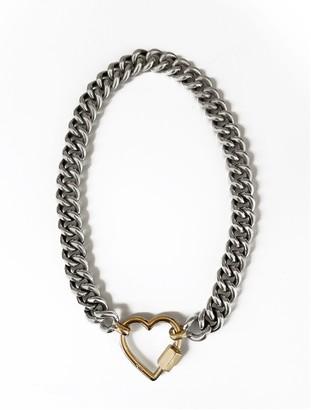 Marla Aaron Mega Curb Yellow Gold Loop Chain Necklace