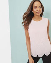 Ted Baker Scallop hem embellished top