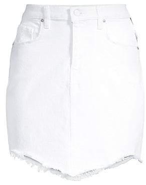 Hudson Jeans Women's Lulu Fringe Hem Denim Skirt