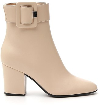 Sergio Rossi Buckle Detail Ankle Boots