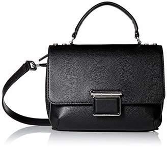 Calvin Klein Dani Hermine Leather Top Handle Flap Over Crossbody