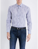 Etro Paisley-jacquard Slim-fit Cotton Shirt