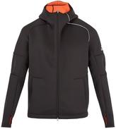adidas Z.N.E. hooded zip-through neoprene sweatshirt