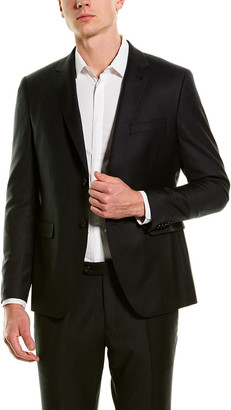 Zanetti 2Pc Luca Wool Suit With Flat Pant
