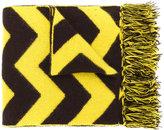 Mp Massimo Piombo - chevron fringed scarf - men - Lambs Wool - One Size