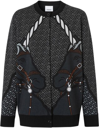 Burberry Unicorn-Print Cardigan