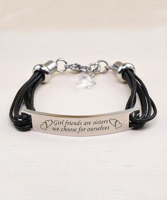 Swarovski Pink Box Women's Bracelets - Stainless Steel 'Sisters' Bracelet With Crystals