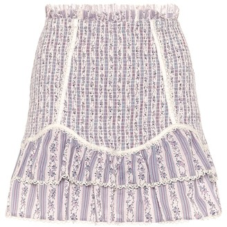 LoveShackFancy Raina smocked cotton miniskirt