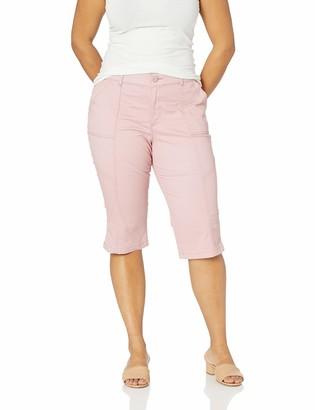 Lee Uniforms Lee Women's Plus Size Flex Motion Regular Fit Utility Capri Pant