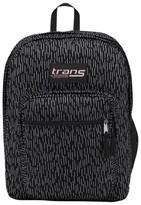 "JanSport Trans by ; 17"" SuperMax Backpack - Black Rain"