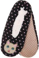 K. Bell Women's Cat Women's's Slipper Socks -Black