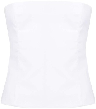 KHAITE Percy structured sleeveless top