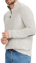 Chaps Big and Tall Zip-Placket Mockneck Sweater