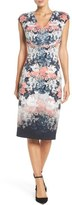 Maggy London Women's Floral Print Midi Dress