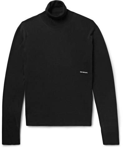 Calvin Klein Embroidered Knitted Rollneck Sweater