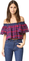 Endless Rose Woven Short Sleeve Top