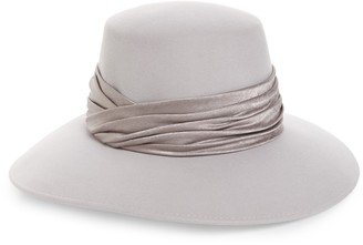 Eugenia Kim Emmanuelle Satin Trim Wool Hat