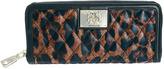 Love Moschino Quilted Leopard Print Zip Around Wallet
