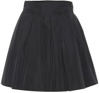 Valentino Cotton-blend faille miniskirt