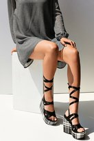 Intentionally Blank Classified Plaid Platform Sandal