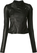 Rick Owens zip fitted jacket - women - Lamb Skin/Cupro/Virgin Wool - 40