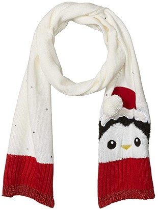 Collection XIIX Penguin with Santa Hat Scarf (White) Scarves