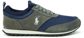 Polo Ralph Lauren Men's Ponteland Suede Sports Trainers Museum Grey/Newport Navy