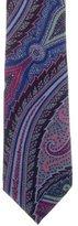 Etro Paisley Print Wool Tie