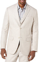 Perry Ellis Big & Tall Linen Herringbone Blazer