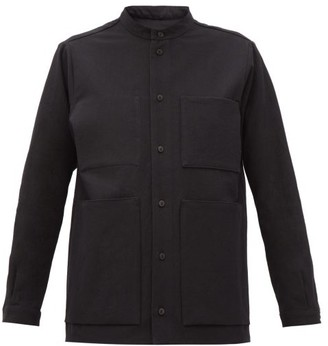 Toogood The Locksmith Patch-pocket Textured-cotton Shirt - Black