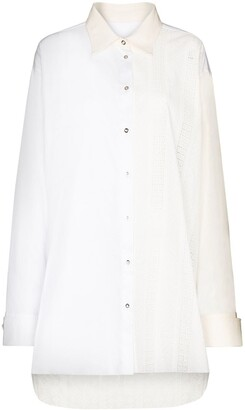 Marques Almeida Two-Tone Oversized Shirt