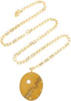 Cvc Stones Elementare 18K Gold, Beach Stone and Diamond Necklace