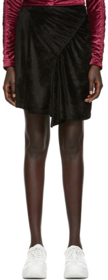 Kenzo Black Limited Edition Holiday Velvet Frilled Skirt