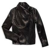 Vince Girl's Leather Motocross Jacket