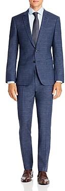 BOSS Huge/Genius Melange Plaid Slim Fit Suit
