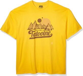 Star Wars Mens Classic Welcome to Tatooine Skywalker Mos Eisley T-Shirt T Shirt