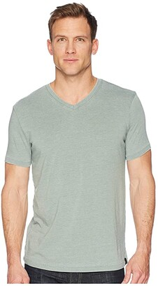 Lucky Brand Venice Burnout V-Neck Tee (American Navy) Men's Clothing