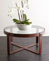 Interlude Lancaster Leather Coffee Table