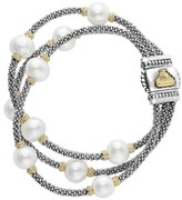 Lagos Women's Luna Pearl Caviar Multistrand Bracelet