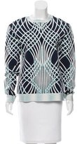 Herve Leger Long Sleeve Patterned Sweater