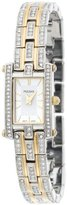 Pulsar Women's PEGE24 Swarovski Crystal Jeweled Two-Tone Silver Dial Watch