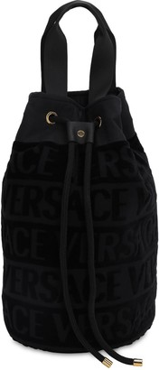 Versace Barocco & Robe Cotton Beach Bag
