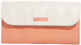 Vera Bradley Coral & Off-White Envelope Flap Clutch