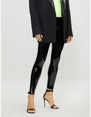 Commando Patent faux-leather leggings