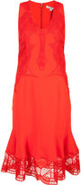 Jonathan Simkhai sheer ruffled hem dress - women - Acetate/Viscose/Spandex/Elastane/Polyester - 2