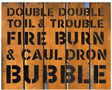 Pottery Barn Double Double Toil & Trouble