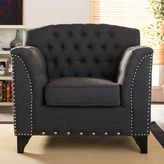 Baxton Studio Mckenzie Tufted Linen Upholstered Armchair