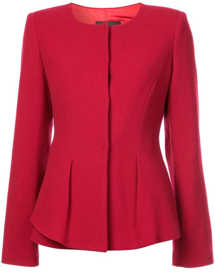 Emporio Armani fitted round hem jacket