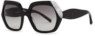 ALAIN MIKLI Evanne Black Oversized Sunglasses